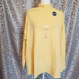 NWT North Crest light yellow long sleeve